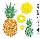 pineapple. vector illustration | Shutterstock .eps vector #183490361