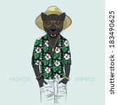 Illustration Of Panther Dresse...