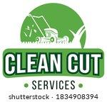 lawn care services vector logo   Shutterstock .eps vector #1834908394