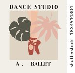 ballet legs in a tropical... | Shutterstock .eps vector #1834914304