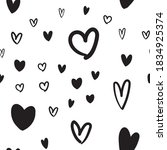 heart doodles texture. hand... | Shutterstock .eps vector #1834925374