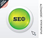 seo sign icon. search engine...