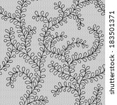 seamless lace vector pattern | Shutterstock .eps vector #183501371