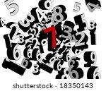 3D Vector Numbers Concept - stock vector