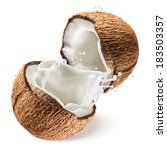 coconut and a half with milk... | Shutterstock . vector #183503357