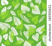 green leaves background.vector... | Shutterstock .eps vector #183503621