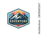 adventure expedition mountain...   Shutterstock .eps vector #1835065267