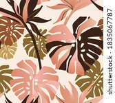 abstract tropical flowers ... | Shutterstock .eps vector #1835067787