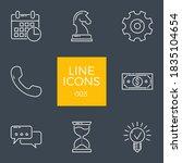 business related vector line... | Shutterstock .eps vector #1835104654