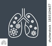lungs infection related vector... | Shutterstock .eps vector #1835104657