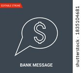 bank message icon. thin line... | Shutterstock .eps vector #1835104681