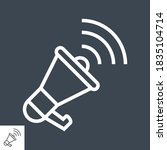 loudspeaker thin line vector... | Shutterstock .eps vector #1835104714