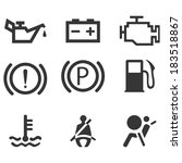 car interface symbols. icon set ... | Shutterstock .eps vector #183518867