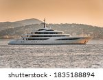 Luxury Super Yacht Anchored In...