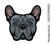 Blue French Bulldog Face...
