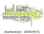 life insurance concepts word... | Shutterstock . vector #183519671