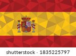 low poly spain flag vector... | Shutterstock .eps vector #1835225797