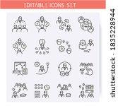 mentoring types line icons set. ...   Shutterstock .eps vector #1835228944