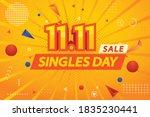 singles day sale.mega sale.web...   Shutterstock .eps vector #1835230441