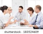 business concept   friendly... | Shutterstock . vector #183524609