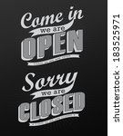 open vintage retro signs ... | Shutterstock .eps vector #183525971