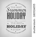 elements for summer holidays  ... | Shutterstock .eps vector #183526055