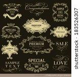 calligraphic design elements... | Shutterstock .eps vector #183526307