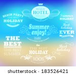 elements for summer holidays... | Shutterstock .eps vector #183526421