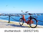 Bike Parked Along The Port Of...
