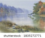 Morning Mist By The Lake In...