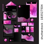 abstract polygonal business set.... | Shutterstock .eps vector #183527504