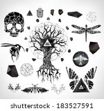 abstract  gothic sacral... | Shutterstock .eps vector #183527591