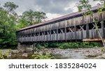 Covered Bridge Over Rushing...