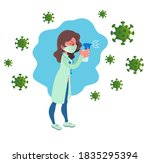 a doctor in a medical gown and... | Shutterstock .eps vector #1835295394