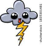 cloud with eyes  illustration ... | Shutterstock .eps vector #1835301481