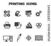 printing icons  mono vector... | Shutterstock .eps vector #183530441