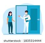 consultation of woman patient... | Shutterstock .eps vector #1835314444