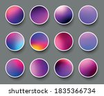 set of rounded holographic...