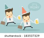 friday after work let's go to... | Shutterstock .eps vector #183537329