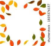falling autumn leaves. red ... | Shutterstock .eps vector #1835376157