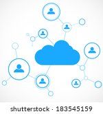 network concept. cloud... | Shutterstock .eps vector #183545159