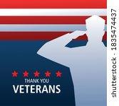 Happy Veterans Day  Silhouette...