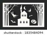 happy halloween banner or party ... | Shutterstock .eps vector #1835484094