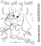 coloring book page for... | Shutterstock .eps vector #1835502544
