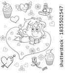 coloring book page for... | Shutterstock .eps vector #1835502547