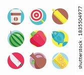 simple set food vector color...