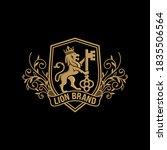 luxury golden royal lion king... | Shutterstock .eps vector #1835506564