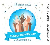 human right day concept.... | Shutterstock .eps vector #1835541217