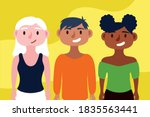 group of interracial people... | Shutterstock .eps vector #1835563441