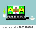 people connecting together ... | Shutterstock .eps vector #1835570101